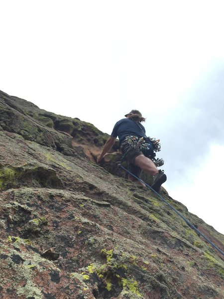 Rock Climbing Photo: Climbing out the lower, left side of the triangula...
