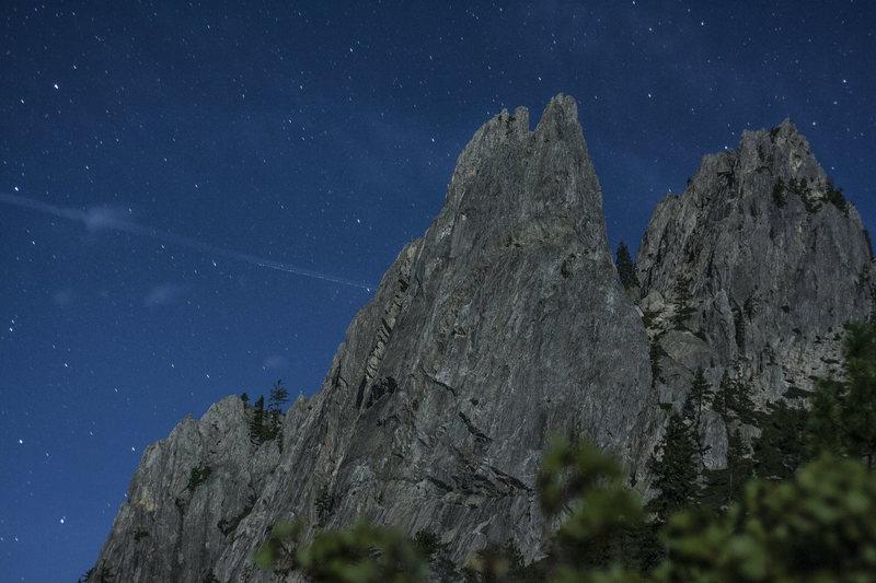 Mt. Hubris at night