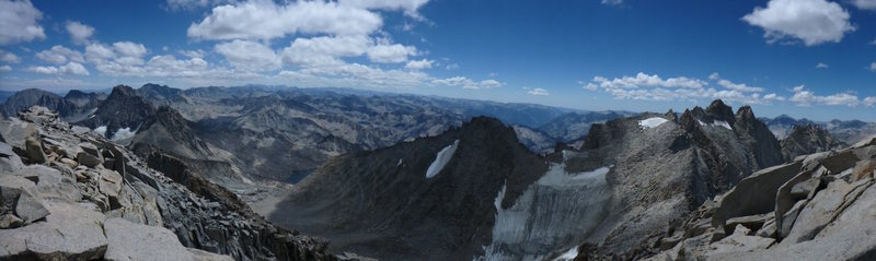 Panorama from the top of Sill, the Swiss Arete, looking south.
