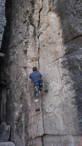Rock Climbing Photo: Salvador at C1, Blackshirts.