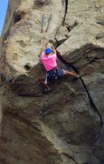 Rock Climbing Photo: Up and over the lip of the splitter roof.  5 Sep 2...