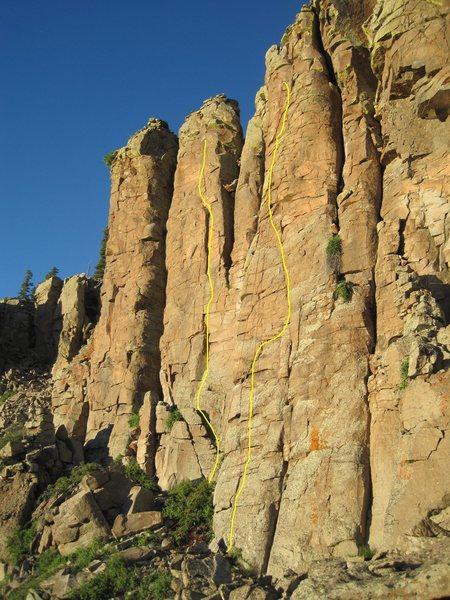 Rock Climbing Photo: Ban Cheese Pillar. Right Siouxsie Sioux. Left