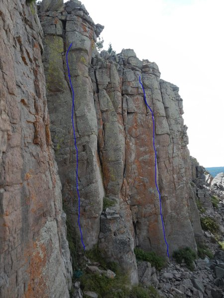 Rock Climbing Photo: Rain Stopped play. Left Universal Conflects. Right