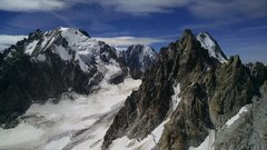 Rock Climbing Photo: The Aiguille d'Argentiere viewed from the Aiguille...