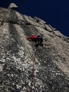Rock Climbing Photo: jules OS FA!, just passed the crux section
