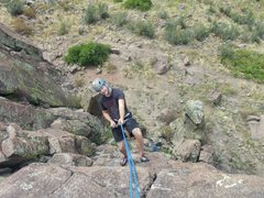 Rock Climbing Photo: Paul rapping from Kevin Spies the Line at the Tabl...