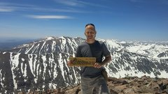 Rock Climbing Photo: Atop Quandary this year.