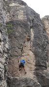 Rock Climbing Photo: Jacob starting.