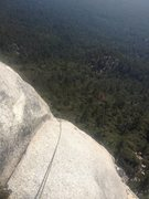 Rock Climbing Photo: The first half of the fingertip traverse. Taken on...