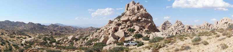 Rock Climbing Photo: pano near the mine