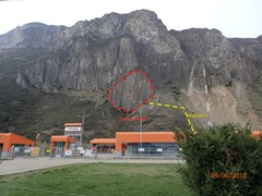 Rock Climbing Photo: Picture of Escudo Wall taken from the road.