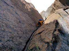 Rock Climbing Photo: The money pitch (#9).