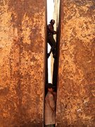 Rock Climbing Photo: Luke Rome and Ferris Kilpatrick in the crack.