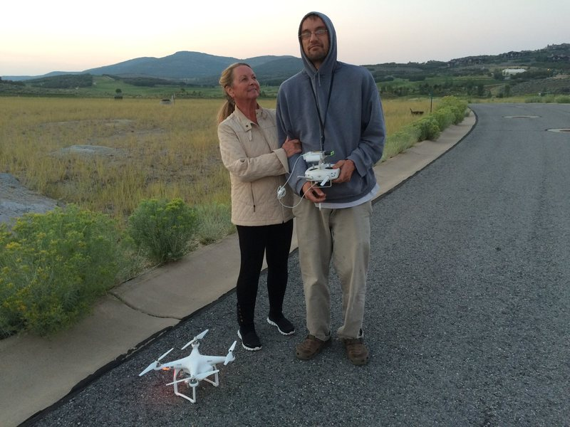 3 days before Luke left this world!  Picture with his Drone in Tujaye, Park Citiy, with momother