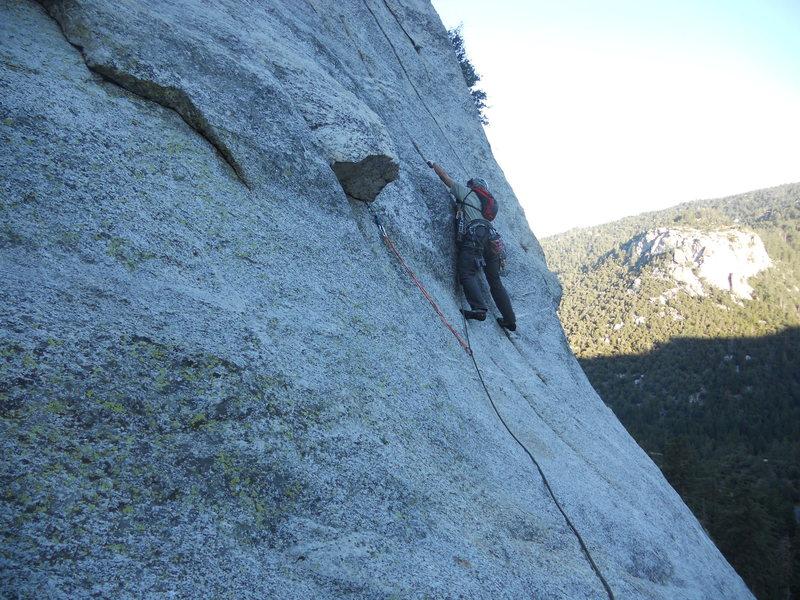 Rock Climbing Photo: The Badger having a good time
