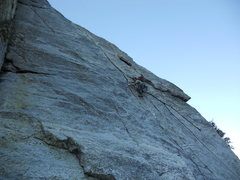 The Badger at Pitch 2, great climbing