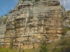 Rock Climbing Photo: Beta - Follow the dotted line; definitely full of ...