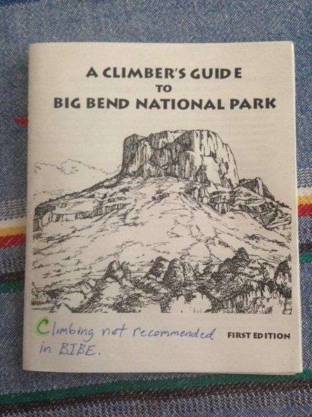 Big Bend guidebook at park visitor center.