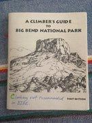 Rock Climbing Photo: Big Bend guidebook at park visitor center.