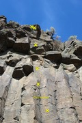 Rock Climbing Photo: Top half and anchors of Circumciser