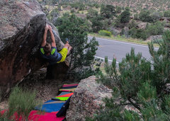 Rock Climbing Photo: Working the corner section of All Along The Diphth...
