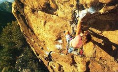 Rock Climbing Photo: Dave Griffith on Makunaima (5.11c), Cold Springs D...