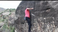Rock Climbing Photo: The two finger pocket move.