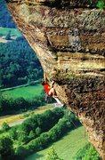 Rock Climbing Photo: Georg Hoffman on Muschkante (9-), Eifel  Photo b...