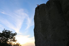 Rock Climbing Photo: Baba cool at sunset