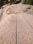 Rock Climbing Photo: Looking down the first easy section from just abov...
