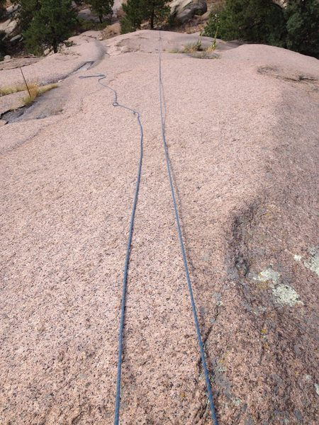 Rock Climbing Photo: Looking down the top of Water Witch.