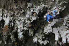 Rock Climbing Photo: 5.11a near the mouth of Ventanas de Tisquizoque ca...