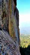 Rock Climbing Photo: Looking back at the end of P2