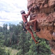 Rock Climbing Photo: Pulling over the roof on Mr. Slate