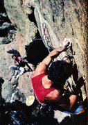 Rock Climbing Photo: Mark Van Horn on Here's to Future Ways (5.12b), El...