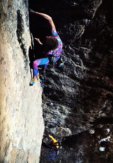 Rock Climbing Photo: Darryl Roth on Will Power (5.12a), Elevenmile Cany...