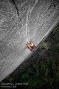 Rock Climbing Photo: Arrowroot, 5.10b Squamish, BC