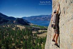 Rock Climbing Photo: Stouthearted, 5.10a Skaha, BC