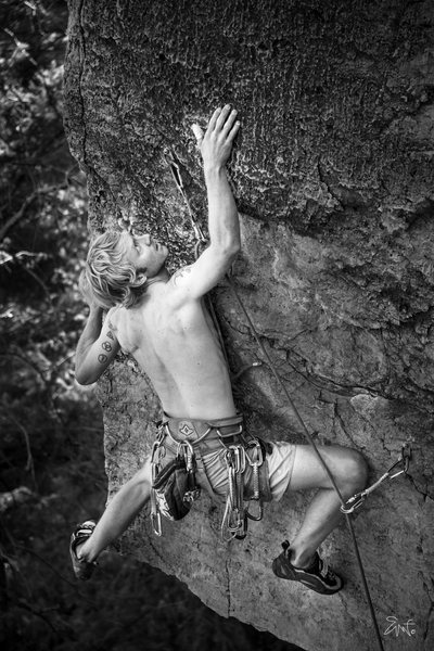 Rock Climbing Photo: Hard part climb!