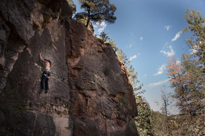 Rock Climbing Photo: Dustin on the send train.
