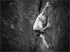 Rock Climbing Photo: Kev rocking it.