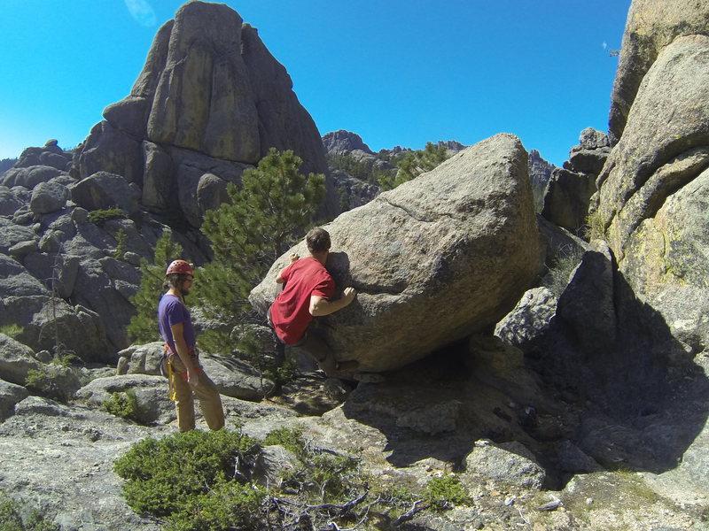 Rock Climbing Photo: Sam flying high at The Chessmen.
