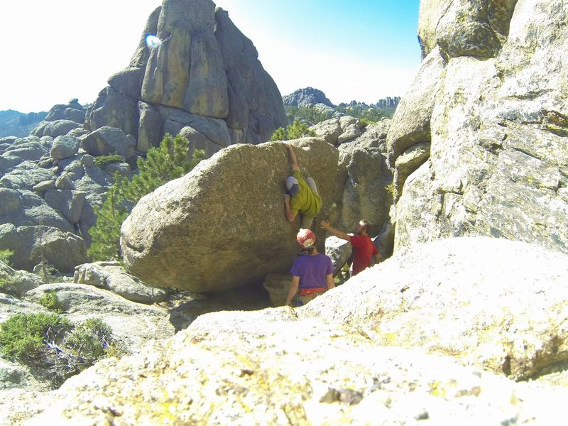 Rock Climbing Photo: Getting grilled in The Chessmen!