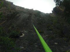 Rock Climbing Photo: Pitch 1, 14 to go...