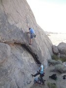 Rock Climbing Photo: Above the arch on Paul's Paradise.
