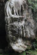 Rock Climbing Photo: 5.9 near the mouth of Ventanas cave