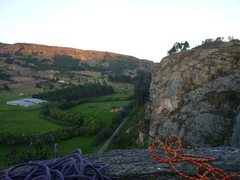 Rock Climbing Photo: topping out