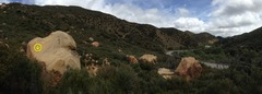 Rock Climbing Photo: The left most boulder is the Kingpin boulder, wher...