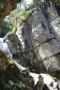 Rock Climbing Photo: on approach.. waterfall, routes to the right
