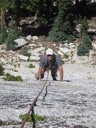 Rock Climbing Photo: Tom Rogers climbing 5.8 slab to the Garden Party a...
